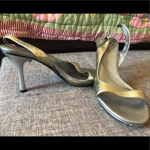 Kenneth Cole reaction silver strappy sandals, 5